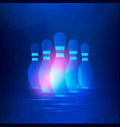 bowling club banner vector image