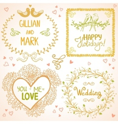 Design wedding vector