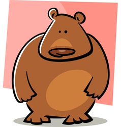 doodle bear vector image vector image