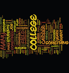 From undecided to decided a college journey text vector