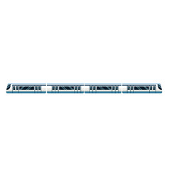 High speed train transport passenger modern vector