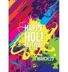 Holi festival poster template vector image