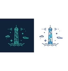 Linear style icon of a lighthouse vector image