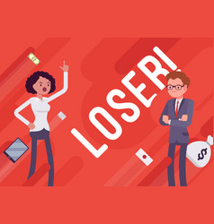 Loser business demotivation poster vector