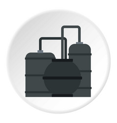 Oil refinery icon circle vector