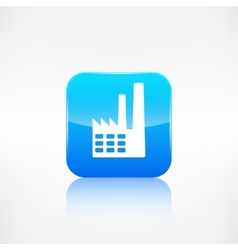 Power station icon vector