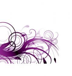 purple bloom vector image vector image