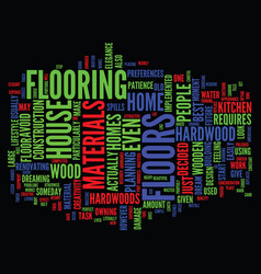 The elegance of hardwood floors text background vector