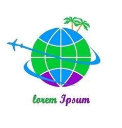 Travel company logo vector