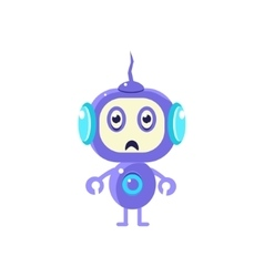Upset little robot vector