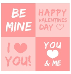 Valentines day and typography element vector