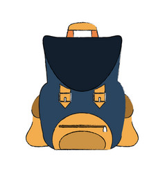 vintage backpack isolated vector image vector image