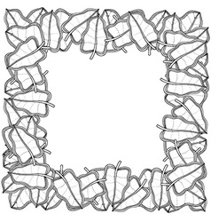 Cartoon Leaf Frame vector image