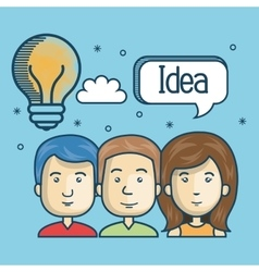 Group person idea creative design vector