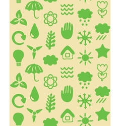 Seamless pattern with eco icons vector