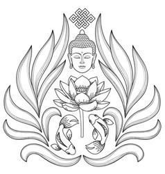 Buddha abstract pattern vector