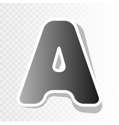 Letter a sign design template element  new vector