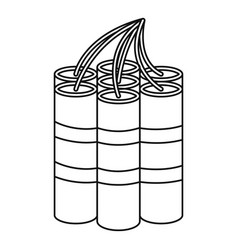 Dynamite sticks icon outline style vector