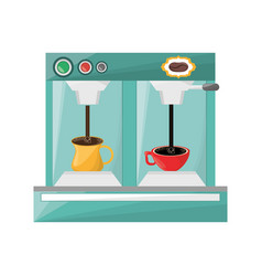 Coffee espresso machine vector