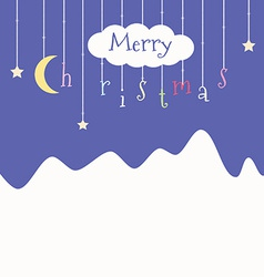 Cute postcard with christmas vector