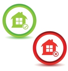 Two house manage icons vector