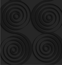 Black 3d connecting spirals with thick edge vector