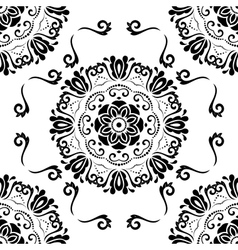 Seamless orient black and white background vector