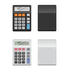 2 calculators - front and back vector