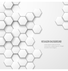 Abstract background with hexagon elements vector