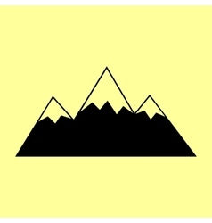 Mountain sign flat style icon vector