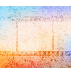 Grungy filmstrip vector