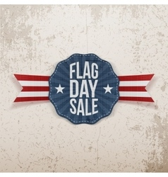 Flag day sale greeting banner with text and shadow vector