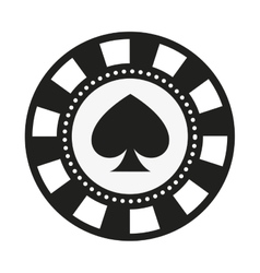 Poker chips isolated icon design vector