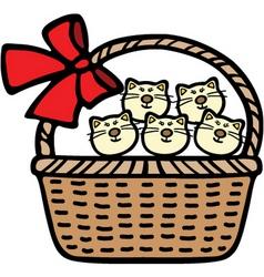 A cute cat cartoon illustration vector