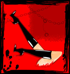 Abstract red and feet vector