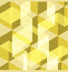 abstract yellow geometric template background vector image vector image