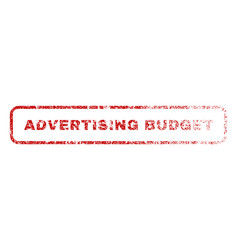 Advertising budget rubber stamp vector