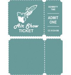 Aero show ticket vector