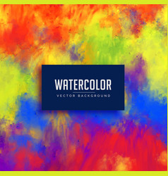 Bright abstract watercolor stain background vector