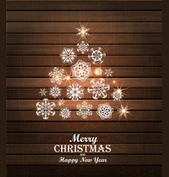 Christmas tree card Winter vector image