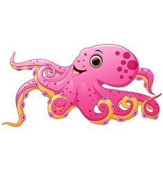 Cute octopus cartoon vector