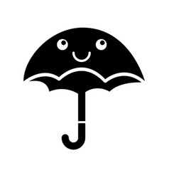 Cute umbrella kawaii character vector