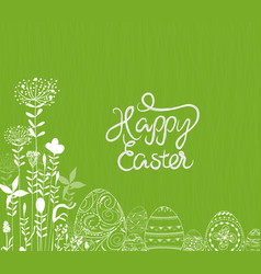 easter eggs ornament background vector image vector image