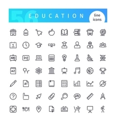 Education Line Icons Set vector image vector image