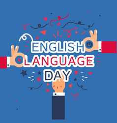 english language day banner vector image