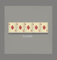 flat shading style icon flush vector image
