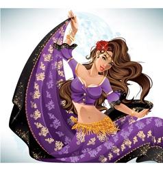 Gipsy dancer vector