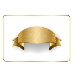 Gold ribbon foil on white vector