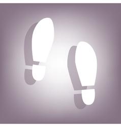 Imprint soles shoes icon vector