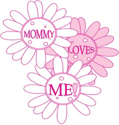 Mommy loves me vector